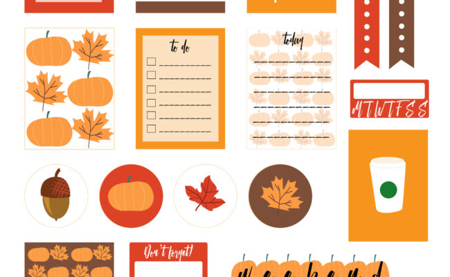 Fall Stickers Free Printable Planner MAMBI